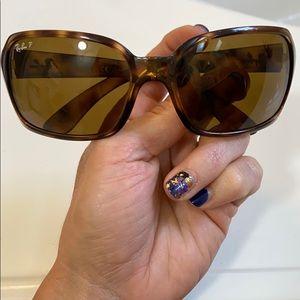 Ray ban polarized sunglasses for women tortoise